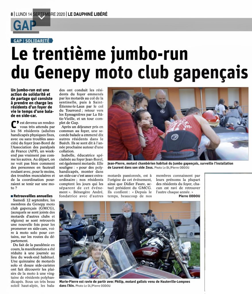 Jumbo run2020 article presse